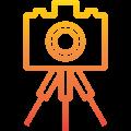fotobudka na trójnogu - aparat fotograficzny